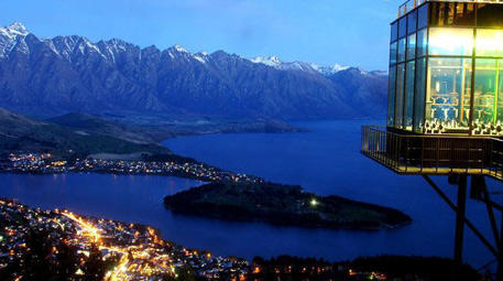 Skyline Restaurant, Queenstown, Yeni Zelanda