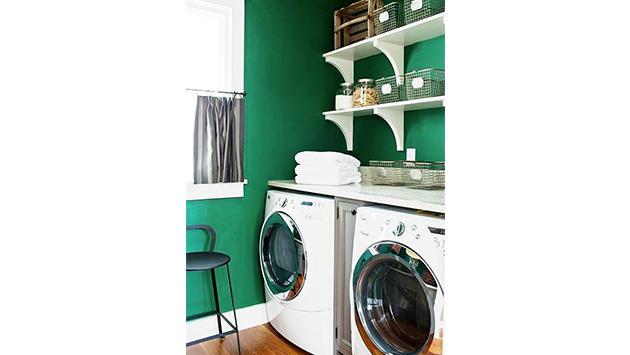 çamaşır odası çimen yeşili