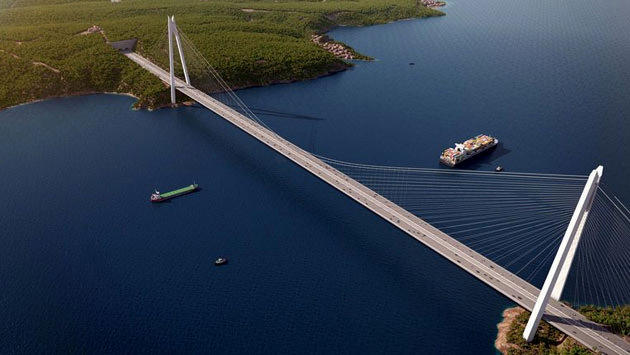 İstanbul'a yapılacak olan 3. Boğaz Köprüsü