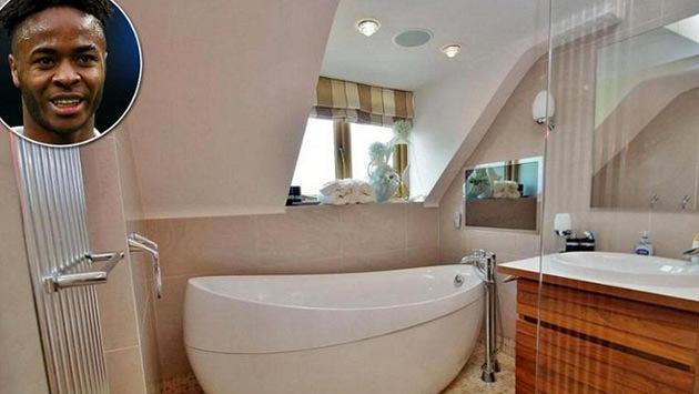 raheem sterlingin evindeki banyo