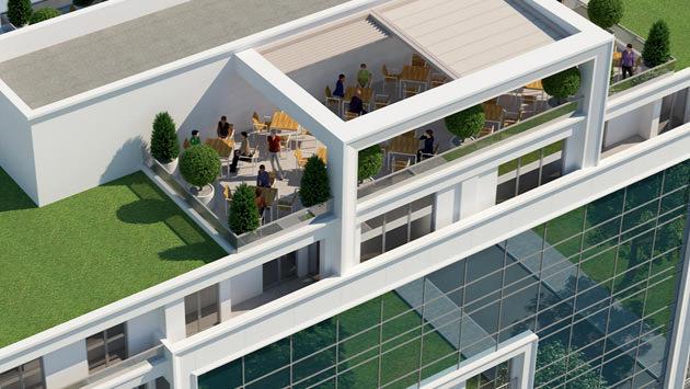 beyazhane çatısındaki oturma alanları