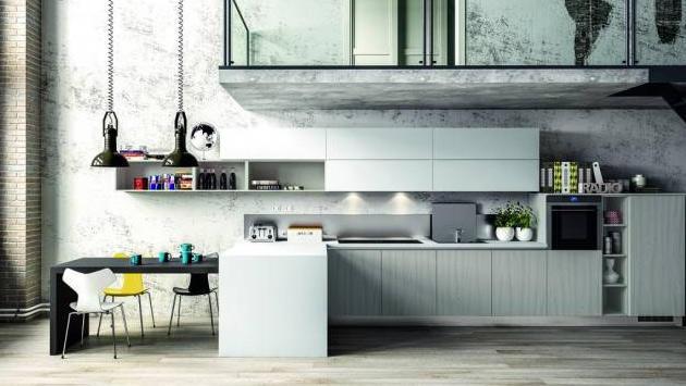 Mutfaklarda endüstriyel esintiler