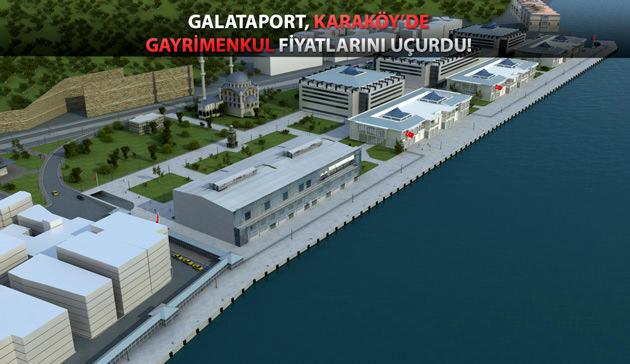 galataport projesinin genel görünümü