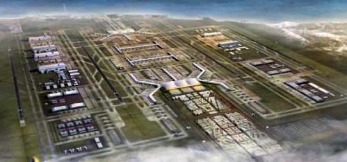 3. havalimanının havadan görünümü