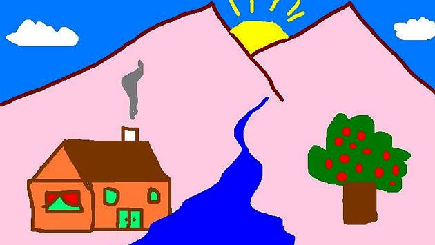 ilkokulda çizilen evler