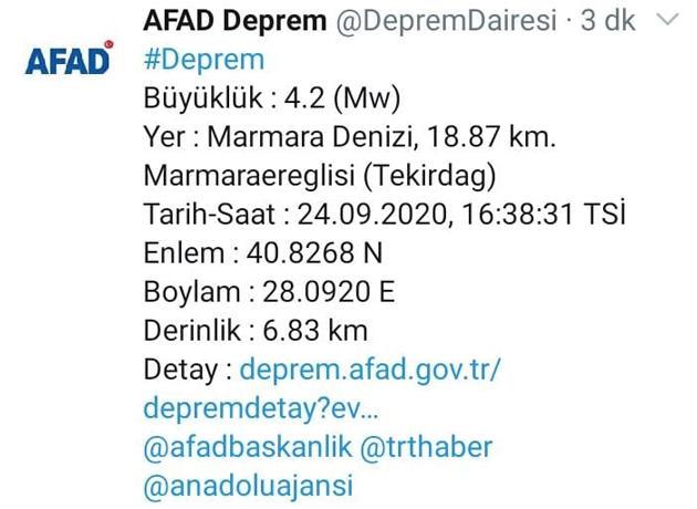 istanbulda 24 haziran 2020 tarihinde meydana gelen son dakika depremi