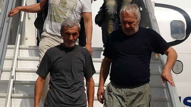 Irak'ta kaçırılan ve serbest bırakılan işçiler İstanbul'da