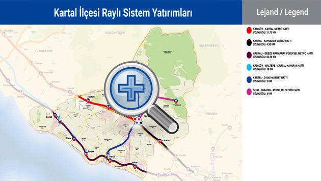 kartal metro haritası