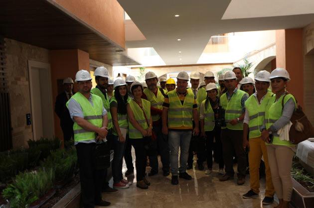 narven termal kasaba projesini ziyaret eden basın mensupları