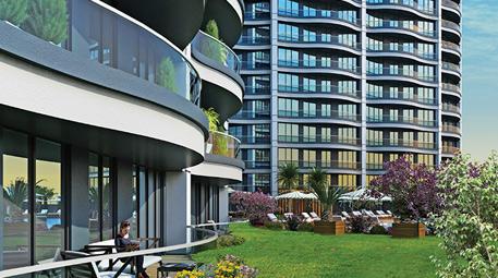 balkonlu dairesi olan mavi bloklar