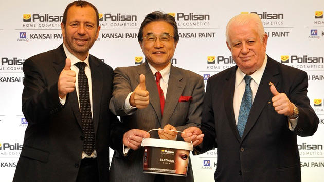 <a href='https://www.emlaktasondakika.com/haber-ara/?key=Polisan+Holding'>Polisan Holding</a> CEO'su Erol Mizrahi, Kansai Paint Başkanı Hiroshi Ishino, <a href='https://www.emlaktasondakika.com/haber-ara/?key=Polisan+Holding'>Polisan Holding</a> Yönetim Kurulu Başkanı Necmettin Bitlis