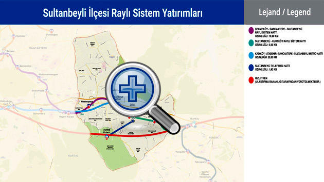 sultanbeyli metro haritası