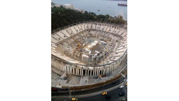 vodafone arena inşaatı