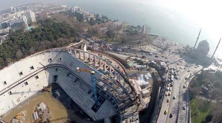 vodafone arena inşaat