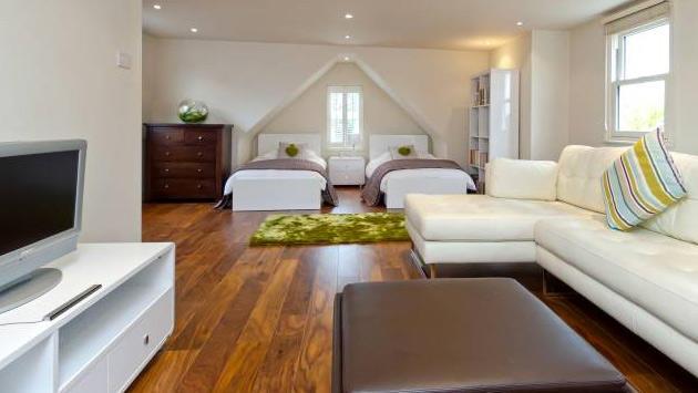 yatak odası ve oturma odası