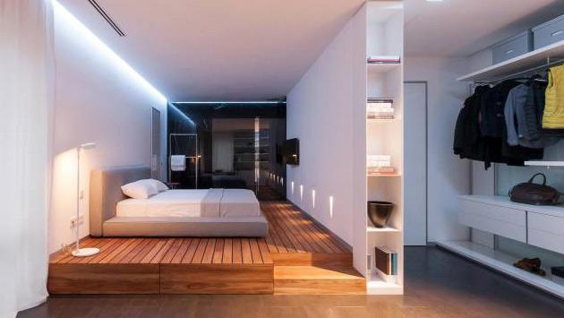 yatak ve oturma odası