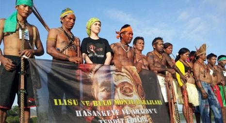 Doğa Derneği Hasankeyf ve Amazon için Brezilya'da eylem yaptı?!