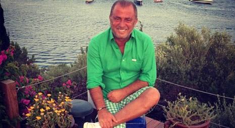 Fatih Terim Türkbükü'ndeki villasında tatilin tadını çıkarıyor!