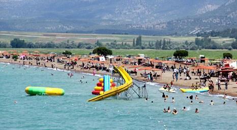Beyşehir Gölü plajları Ege sahillerini aratmıyor!