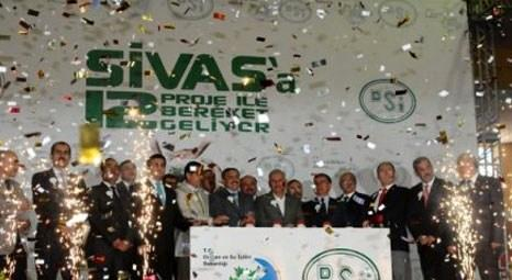 Veysel Eroğlu, Sivas'ta 133 milyon liralık 12 DSİ tesisinin temelini attı!
