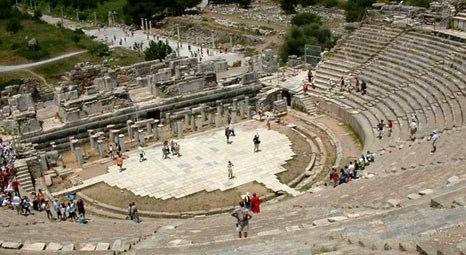 Efes Antik Tiyatrosunda Güçlendirme çalışmaları Tamamlandı