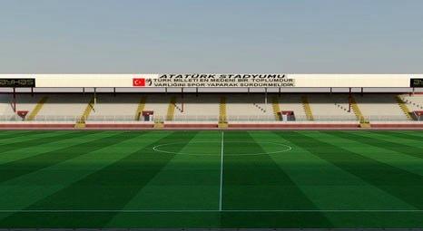 Elazığ Atatürk Stadı'nın yarım kalan tadilat çalışmaları yeniden başladı!