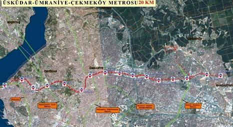 İstanbul Büyükşehir Belediyesi Ümraniye'de metro çalışmalarına 26 Mayıs'ta başlıyor!