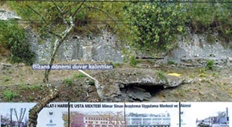 İmalat-ı Harbiye Mektebi'nin inşaat alanından Bizans kalıntıları çıktı!