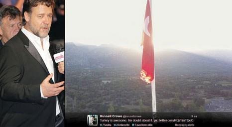 Russell Crowe, The Water Diviner filmi için gittiği Muğla Karaköy'ü çok beğendi