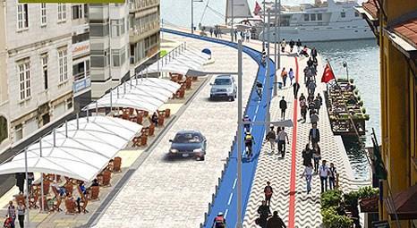 İzmir Kıyı Tasarım Projesi'ndeki ilk imalata Pasaport'tan başlanıyor