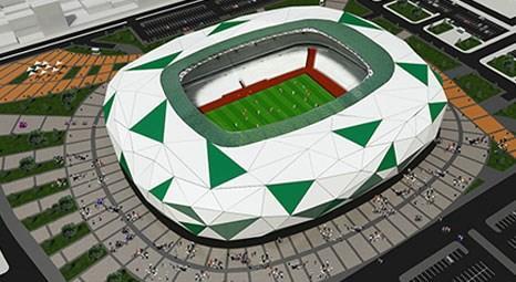 Konya'da yeni stadyumun yapımı hızla ilerliyor