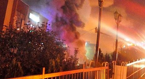 Gaziosmanpaşa'da perde fabrikası yandı