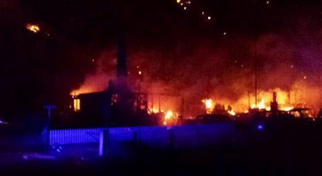 Norveç'in Laerdalsoyri köyünde çıkan yangın 23 binaya sıçradı