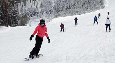 Cıbıltepe Kayak Merkezi, tatilcilerden büyük ilgi görüyor