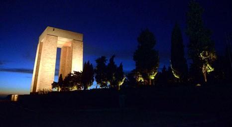 Çanakkale Şehitler Abidesi'nin ışıklandırma sistemi yenilendi