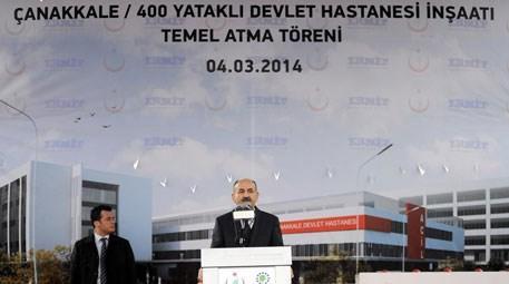 Mehmet Müezzinoğlu Çanakkale Devlet Hastanesi'nin temelini attı