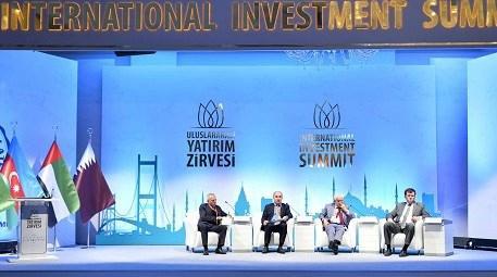 uluslararası yatırım zirvesinde gerçekleştirilen oturumdan bir kare