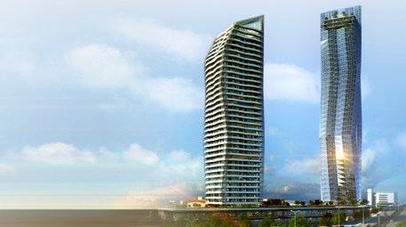 mistral izmir projesinin 48 katlı ofis ve 38 katlı konut bloğu
