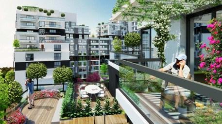 site içine bakan balkonlu konut