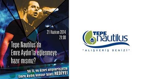 Emre Aydın, 21 Haziran'da Tepe Nautilus AVM'de konser verecek