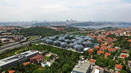 şehrizar konakları projesinin havadan fotoğrafı