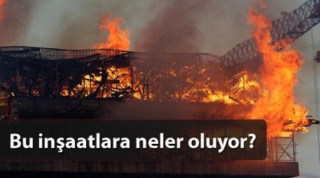 İzmir'de gökdelen inşaatında yangın çıktı