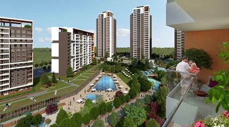 bahçeşehir Göl Panorama Evleri bahçesi