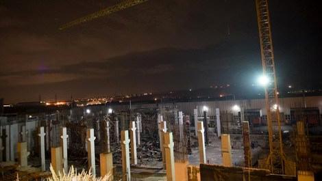 Ankara'da çöken inşaat iskelesi
