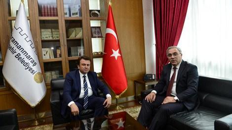 TOKİ Başkanı Ergün Turan ve Kahramanmaraş Büyükşehir Belediye Başkanı Fatih Mehmet Erkoç