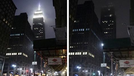 ışıklarını kapatan empire state