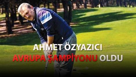 Ahmet Özyazıcı golf oynarken