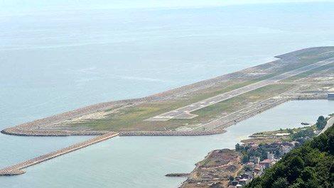 Ordu denizdeki havalimanı