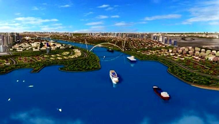 Kanal istanbul projesinin genel görünümü
