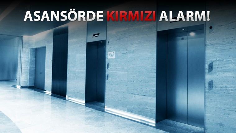 asansörlerde kırmızı etiket